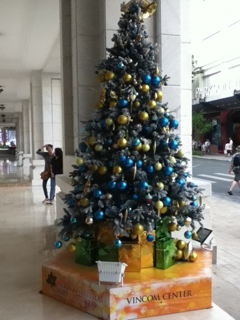 Christmas Tree in Ho Chi Minh City, Vietnam. 2012